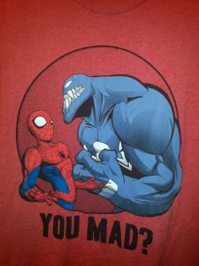 The exact shirt I wore to watch the movie.  And yeah, I'm mad.