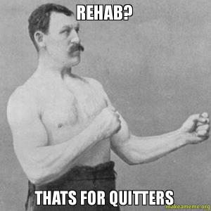 I ain't no quitter!